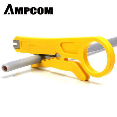 AMPCOM Mini Wire Stripper Cutter Impact Punch Down Tool 110 Blade for patch cord