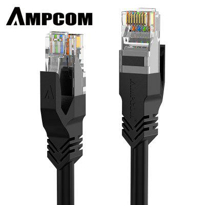 AMPCOM CAT5e Cable Ethernet Cable Cat5 Lan Cable Solid Copper for Laptop Router