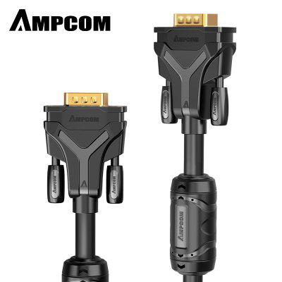 AMPCOM HD VGA Cable 9pin 6pin 1080P Male to Male Adapter Converter Cable for HDTV DVD PC TV