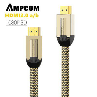 AMPCOM 4K Ultra HDMI to HDMI  Cable High Speed Support 3D Ethernet HDR for HDTV PS4 PS3