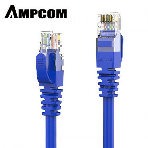 Cat5e Ethernet Cable 2 Pack 5 ft Yellow Gold Plated Contacts Male to Male Patch Cord