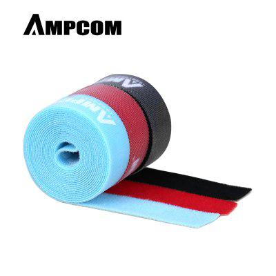 AMPCOM 2m x 3pcs Nylon Cable Straps Hook-and-Loop Cable Fastening Tape Cable Tie Wire Organizer