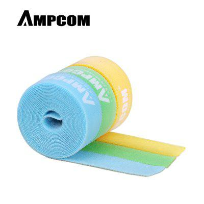 AMPCOM Nylon Cable Straps Hook-and-Loop Cable Fastening Tape Cable Tie Wire Organizer 2m 3pcs