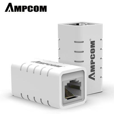 AMPCOM RJ45 Network Adapter 8P8C Female Extender LAN Inline Coupler for Ethernet Cable