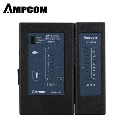 AMPCOM Network Cable Tester Detector RJ45 RJ11 RJ12 network tool  Cable Wire Test Tool Black