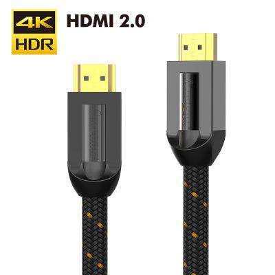 AMPCOM Supreme series HDMI Cable 2.0 Support Cotton Braided Gold Plated for HD 4K 60Hz 3D HDR Black
