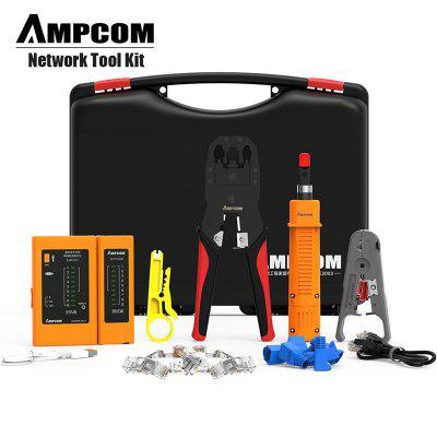 Network Tool Kit AMPCOM 11 in 1 Professional Portable Ethernet Computer Maintenance LAN Cable Tester
