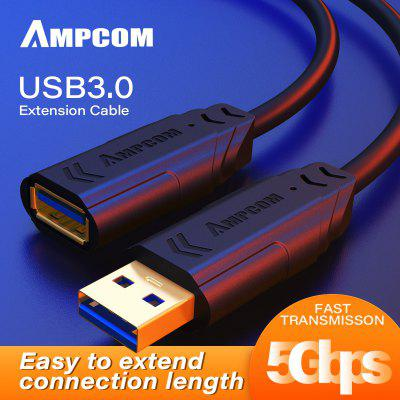 AMPCOM USB to USB Extension Cable USB 3.0 Extension Cable 5Gbps A Male to A Female Adapter Cord