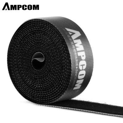 AMPCOM 2m Nylon Cable Straps Hook-and-Loop Cable Fastening Tape Cable Tie Wire Organizer