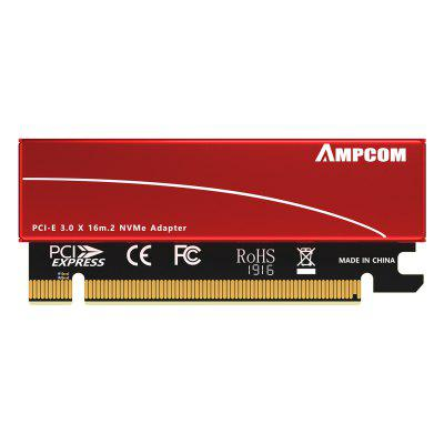 AMPCOM M.2 M Key Nvme SSD to PCI-e Adapter PCI Express X16 Card with Aluminum Case