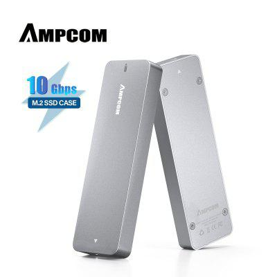 AMPCOM NVME Enclosure Adapter M.2 PCIe SSD M Key to USB 3.1 External Solid State Drive Case