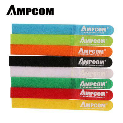 AMPCOM Fastening Cable Ties Reusable Hook and Loop Multi-Color Cord Management Wraps  8 Colors