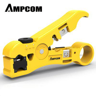 AMPCOM Pro Series Cable Wire Stripper Compression Tool Coaxial Cable Stripper 358 Type