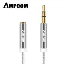 AMPCOM Cable de audio macho a hembra de 3,5 mm Cable de audio auxiliar de carcasa de cobre