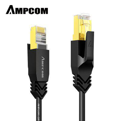 AMPCOM STP CAT8 Ethernet Cable Slim Type High Speed Patch Cable CAT8 Lan Cable 40Gbps