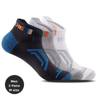 3 Pairs AONIJIE E4101 Sports Running Athletic Tab Training Cushion Low Show Compression Socks