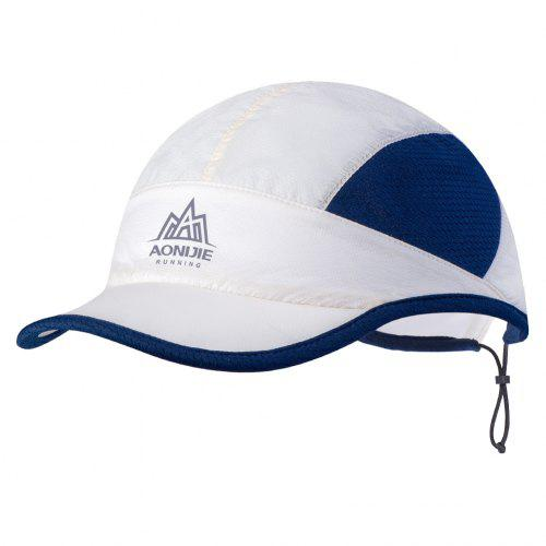 Outdoor Plastic Adjustable Stretch UV Protection w Rope Visor Cap Hat Red