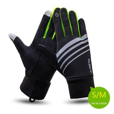AONIJIE M51 Winter Unisex Sports Touchscreen Windproof Thermal Fleece Gloves Cycling Skiing