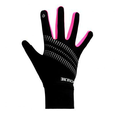 AONIJIE M50 Unisex Sports Touchscreen Thermal Winter Fleece Gloves Cycling Skiing Reflective