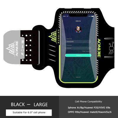 AONIJIE A892S Water Resistant Cell Phone Sports Running Fitness Workout Armband Arm Bag Jogging Case