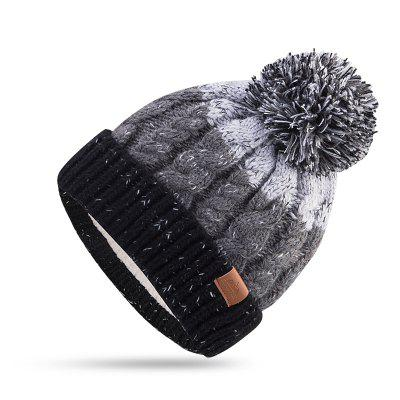 AONJIE M28 Adult Kid Children Skiing Winter Fleece Lined Knitted Hat Cuffed Beanie Skull Cap Scarf
