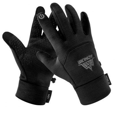 AONIJIE M53 Men Women Winter Themal Touchscreen Fleece Gloves Anti-Slip Windproof Cycling Gloves