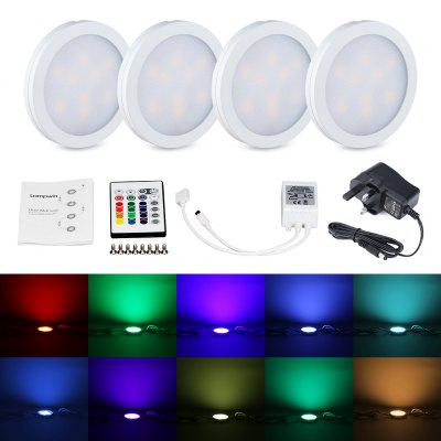 Lampwin RGB Under Cabinet Lighting Kit 4 PCS with Remote Control