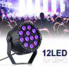 Lampwin UV Lights 12W 12 LEDs Black Light Controlled by DMX