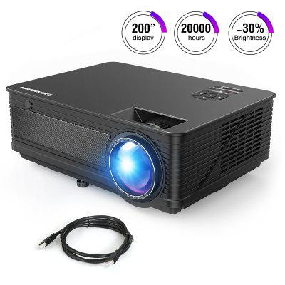 Excelvan M5 LED Projector Support Full HD 1080P HDMI Home Theater Connect With PS4 iPhone iPad