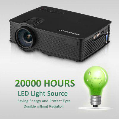 Excelvan EHD09 mini LED projector 800x480 pixels 1200 lumens Home Cinema theater HDMI