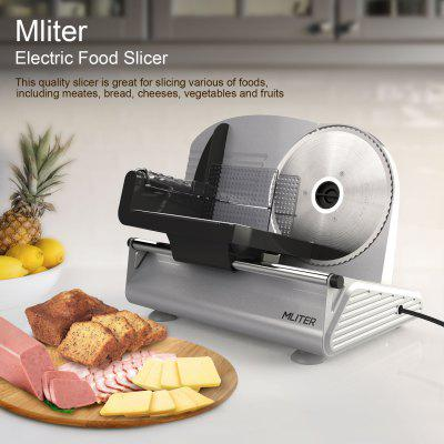 Mliter Electric Food Slicer Precision 7.5-Inch Stainless Steel Blade For Bread and Meat