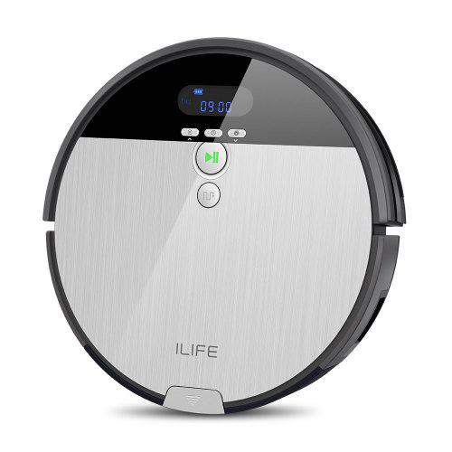 ILIFE V8s Robotic Mop Vacuum Cleaner with 750ML Big Dustbin LCD Display Europe Plug
