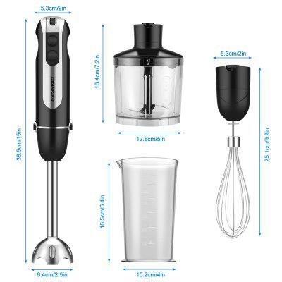 4 in 1Electric Hand Held Blender Immersion Stick Electric Chopper  With Emulsion Mixer