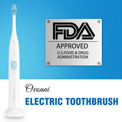 Ovonni Rechargeable Ultrasonic Electric Toothbrush IPX7 Waterproof 3 Modes  Replacement Head