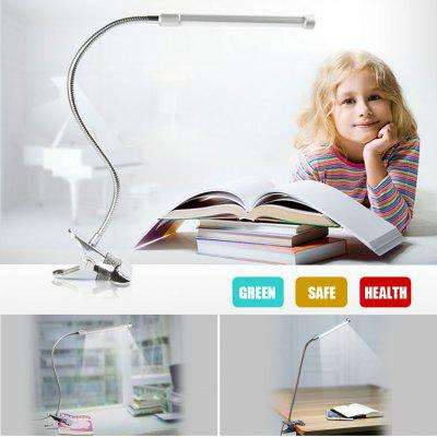 Excelvan Flexible USB Clipper Table Lamp LED Eye Protection Desk Lamp Silver