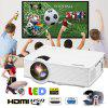 Excelvan EHD09 mini LED projector 800x480 pixels 1200 lumens Home Cinema theater HDMI White