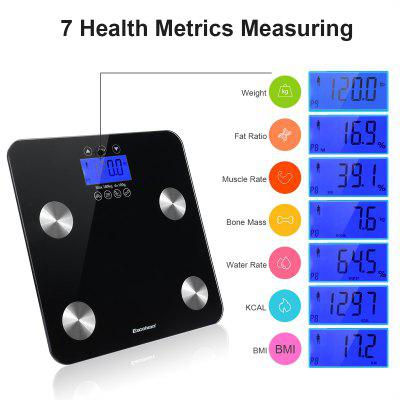 Digital LCD Body Fat Scale Weight Muscle Bone Water BMI Analyzer Glass Bathroom