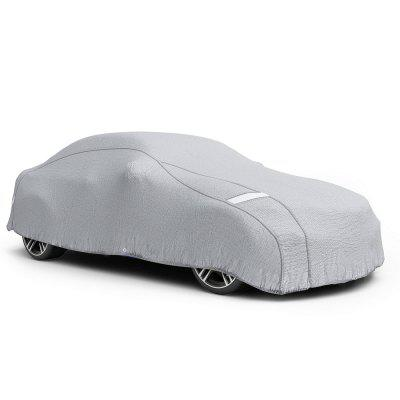 Car Cover Waterproof UV Protection Breathable Outdoor Sedan Cover Driver Side Zippered Opening Easy