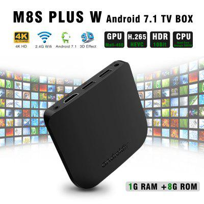M8S PLUS Amlogic S905W Smart TV Box USB WiFi 4K 3D HDR Android7.1 Media Player