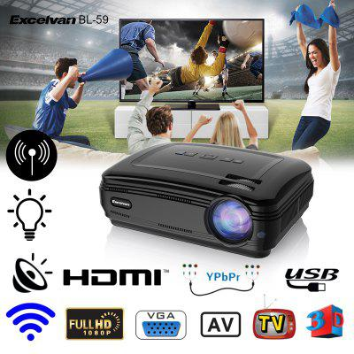 Excelvan BL - 59 Android 6.0.1 3200 Lumens 1280 x 768 200 Inch Multimedia Projector