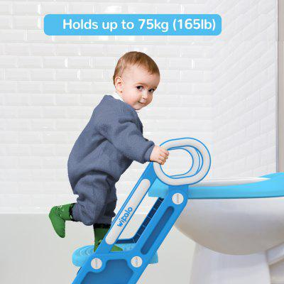 Wipalo Potty Training Toilet Seat for O V U shaped Toilets Adjustable Ladder Non-Slip - France