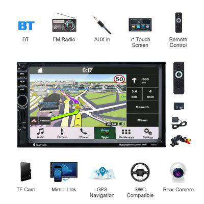 7 Inch HD Touch screen MP5 Car Media Player Bluetooth Handsfree GPS Navigation Rear view Camera AUX
