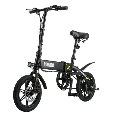 DOHIKER Folding E-bike Collapsible Moped Electric Bicycle With 250W Motor 7.5Ah Rechargeable Battery Image