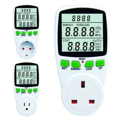 Intelligent AC Power Meter Wattmeter Energy Meter Voltage Current Frequency Electricity Socket