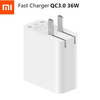 Original Xiaomi AD07ZM Dual USB Output 36W Fast Charger Support IOS Samsung Huawei Smart Device