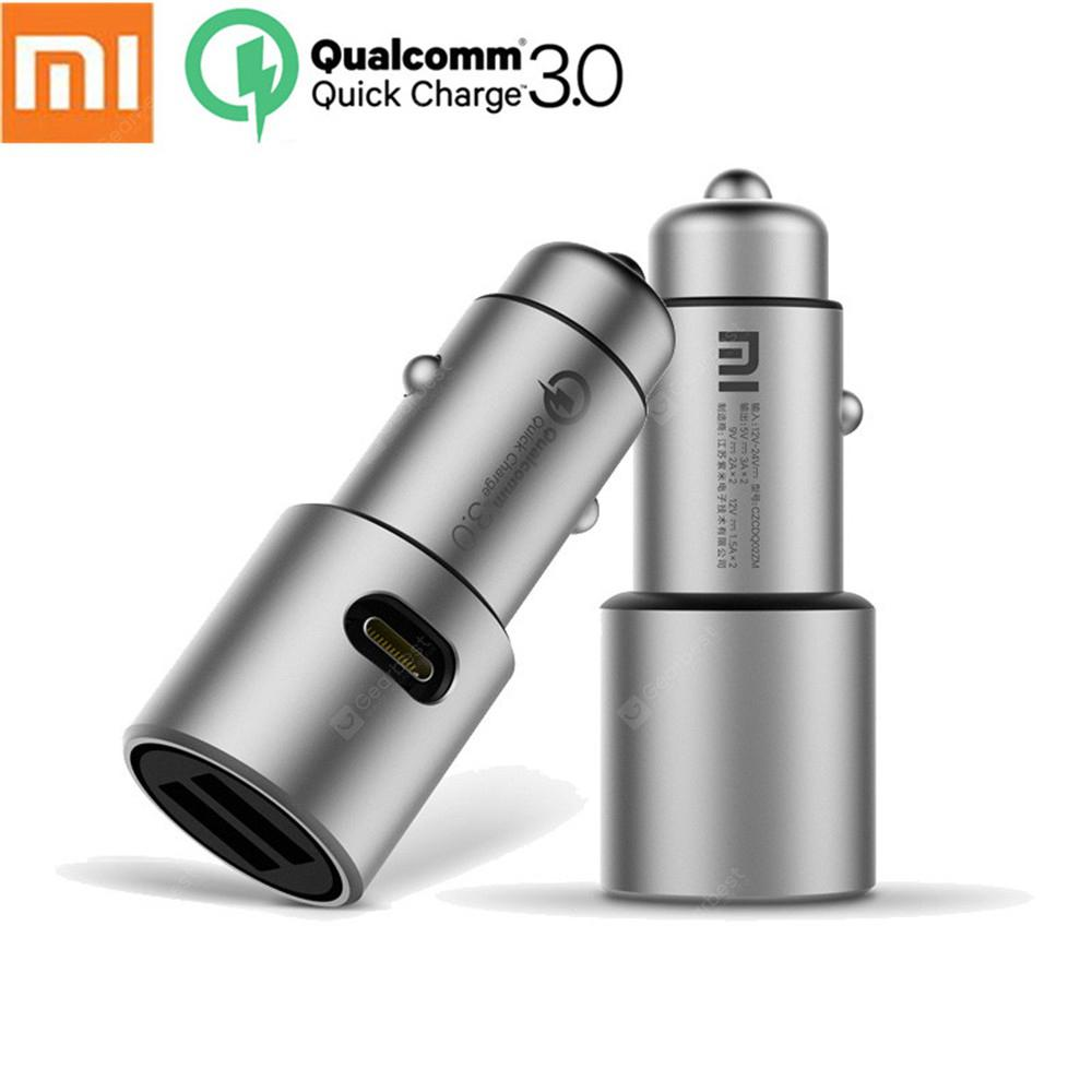 Original Xiaomi Car Charger Dual USB Quick Charging Compatible with Android iOS Devices