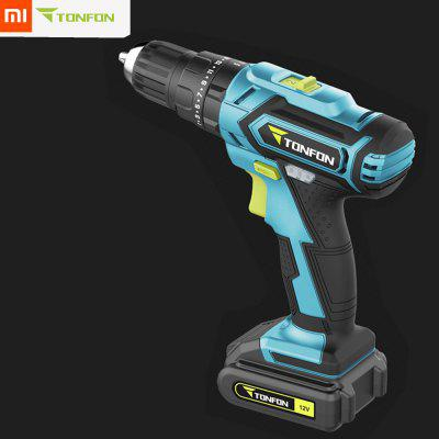 3 In 1 12V Rechargable Electric Screwdriver Power Driver Impact Drill with Bits from Xiaomi youpin