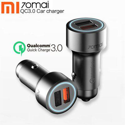 70mai QC3.0 Dual USB Ports Car Charger for iPhone Huawei Samsung Smart Devices from Xiaomi youpin