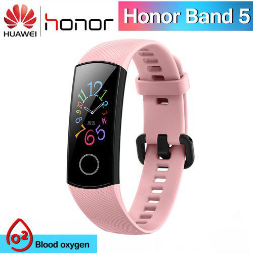 Original Huawei Honor Band 5 Smart Wristband Oximeter Amoled Touch Color Screen Sports Bracelet