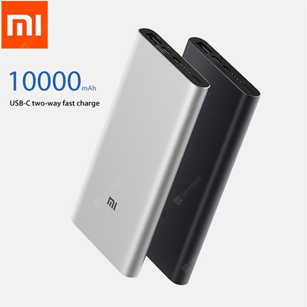 Original Xiaomi Power Bank 3 10000mAh USB-C Two-way 18W QC3.0 Fast Charge for iPhone Samsung Huawei